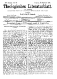 Theologisches Literaturblatt, 28. September 1894, Nr 39.