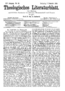 Theologisches Literaturblatt, 7. Dezember 1894, Nr 49.