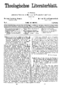 Theologisches Literaturblatt, 26. April 1929, Nr 9.