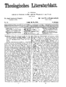 Theologisches Literaturblatt, 10. Mai 1929, Nr 10.