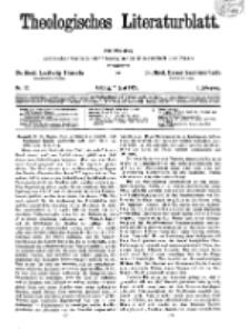 Theologisches Literaturblatt, 7. Juni 1929, Nr 12.
