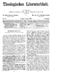 Theologisches Literaturblatt, 30. August 1929, Nr 18.