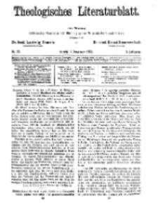 Theologisches Literaturblatt, 8. November 1929, Nr 23.