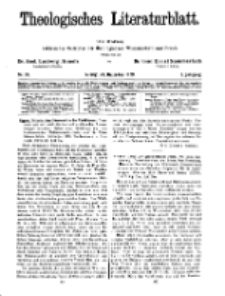 Theologisches Literaturblatt, 20. Dezember 1929, Nr 26.