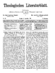 Theologisches Literaturblatt, 7. November 1930, Nr 23.