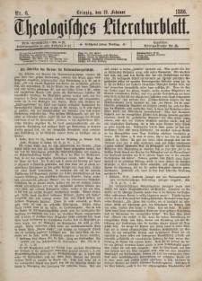 Theologisches Literaturblatt, 19. Februar 1886, Nr 6.