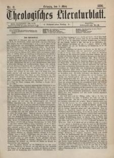 Theologisches Literaturblatt, 5. März 1886, Nr 8.