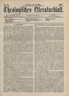 Theologisches Literaturblatt, 19. März 1886, Nr 10.