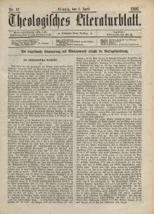 Theologisches Literaturblatt, 2. April 1886, Nr 12.