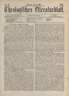 Theologisches Literaturblatt, 14. Mai 1886, Nr 18.