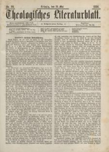 Theologisches Literaturblatt, 28. Mai 1886, Nr 20.