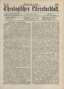 Theologisches Literaturblatt, 11. Juni 1886, Nr 22.