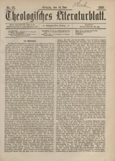 Theologisches Literaturblatt, 18. Juni 1886, Nr 23.