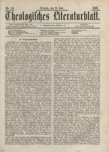 Theologisches Literaturblatt, 25. Juni 1886, Nr 24.