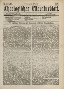 Theologisches Literaturblatt, 30. Juni 1886, Nr 25/26.