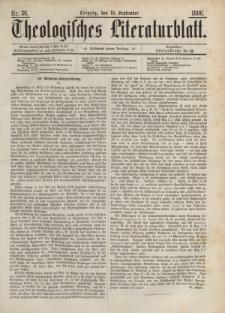 Theologisches Literaturblatt, 10. September 1886, Nr 36.