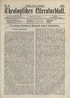 Theologisches Literaturblatt, 24. September 1886, Nr 38.
