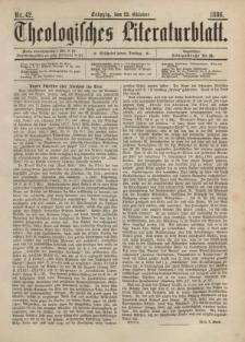 Theologisches Literaturblatt, 22. Oktober 1886, Nr 42.