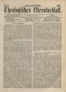 Theologisches Literaturblatt, 29. Oktober 1886, Nr 43.