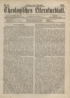 Theologisches Literaturblatt, 5. November 1886, Nr 44.