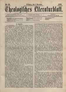 Theologisches Literaturblatt, 3. Dezember 1886, Nr 48.