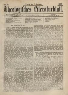 Theologisches Literaturblatt, 17. Dezember 1886, Nr 50.