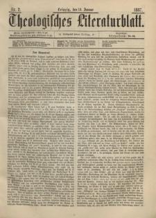 Theologisches Literaturblatt, 14. Januar 1887, Nr 2.
