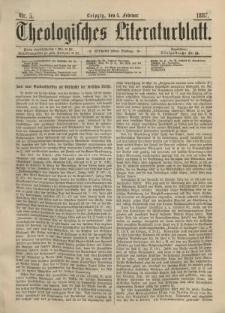 Theologisches Literaturblatt, 4. Februar 1887, Nr 5.