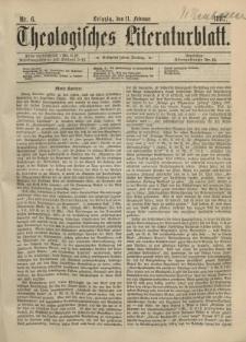 Theologisches Literaturblatt, 11. Februar 1887, Nr 6.