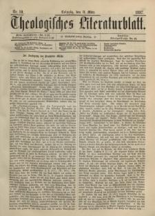 Theologisches Literaturblatt, 11. März 1887, Nr 10.