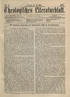Theologisches Literaturblatt, 25. März 1887, Nr 12.