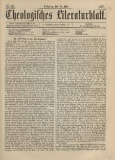Theologisches Literaturblatt, 20. Mai 1887, Nr 20.