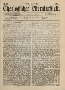 Theologisches Literaturblatt, 27. Mai 1887, Nr 21.