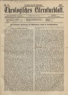 Theologisches Literaturblatt, 30. September 1887, Nr 39.