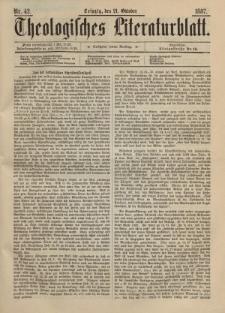 Theologisches Literaturblatt, 21. Oktober 1887, Nr 42.