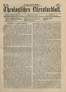Theologisches Literaturblatt, 28. Oktober 1887, Nr 43.