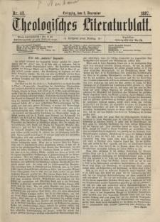 Theologisches Literaturblatt, 2. Dezember 1887, Nr 48.
