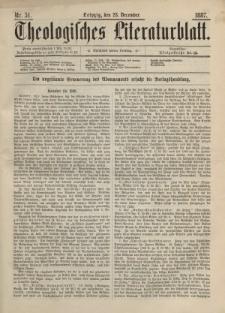 Theologisches Literaturblatt, 23. Dezember 1887, Nr 51.