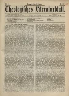 Theologisches Literaturblatt, 6. Januar 1888, Nr 1.