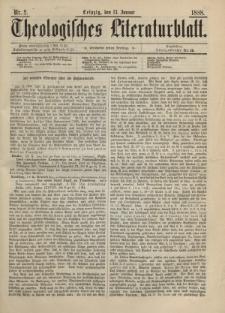 Theologisches Literaturblatt, 13. Januar 1888, Nr 2.
