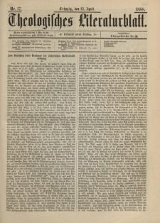 Theologisches Literaturblatt, 27. April 1888, Nr 17.