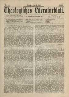 Theologisches Literaturblatt, 4. Mai 1888, Nr 18.