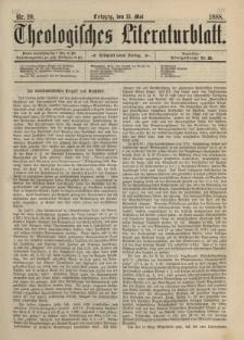 Theologisches Literaturblatt, 18. Mai 1888, Nr 20.