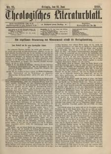 Theologisches Literaturblatt, 22. Juni 1888, Nr 25.
