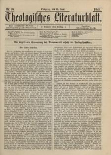 Theologisches Literaturblatt, 29. Juni 1888, Nr 26.