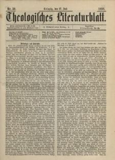 Theologisches Literaturblatt, 27. Juli 1888, Nr 30.