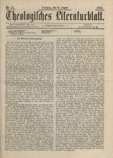 Theologisches Literaturblatt, 24. August 1888, Nr 34.