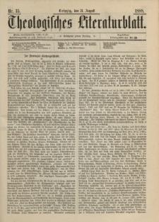 Theologisches Literaturblatt, 31. August 1888, Nr 35.