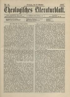 Theologisches Literaturblatt, 12. Oktober 1888, Nr 41.