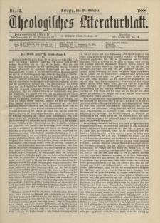 Theologisches Literaturblatt, 26. Oktober 1888, Nr 43.